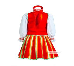 Народный костюм для девочки Литовский вид сзади