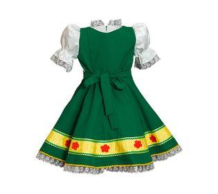 Русское народное платье для девочки Наташка вид сзади