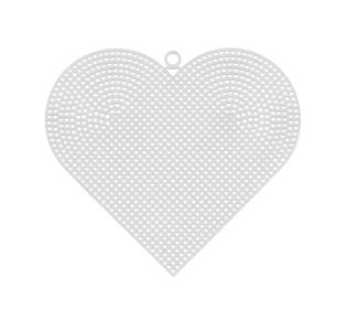 Пластиковая канва фигурная, сердце 15 х 17 см - 10 шт