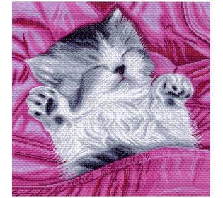 "Канва с рисунком Матренин посад 897 ""Спящий котенок"""