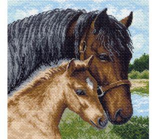 """Канва с рисунком Матренин посад 968 """"Лошади"""""""