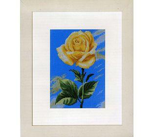 """Желтая роза на голубом"""