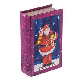 "Шкатулка-книга BBK-01 №015 ""Санта на коньках"""